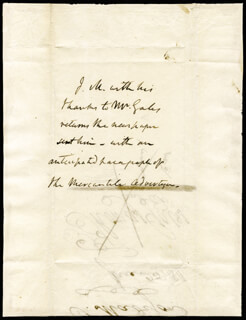 PRESIDENT JAMES MADISON - THIRD PERSON AUTOGRAPH LETTER 06/25/1811