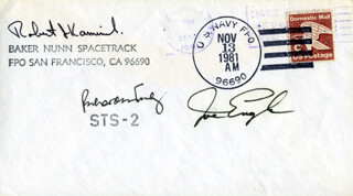 VICE ADMIRAL RICHARD H. TRULY - COMMEMORATIVE ENVELOPE SIGNED CO-SIGNED BY: MAJOR GENERAL JOE ENGLE
