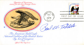 Autographs: ENOLA GAY CREW (PAUL W. TIBBETS) - FIRST DAY COVER SIGNED