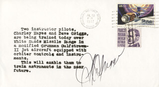 S. DAVID GRIGGS - COMMEMORATIVE ENVELOPE SIGNED