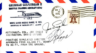 S. DAVID GRIGGS - COMMEMORATIVE ENVELOPE SIGNED CO-SIGNED BY: MAJOR GENERAL JOE ENGLE