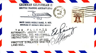 S. DAVID GRIGGS - COMMEMORATIVE ENVELOPE SIGNED CO-SIGNED BY: ED RAINEY