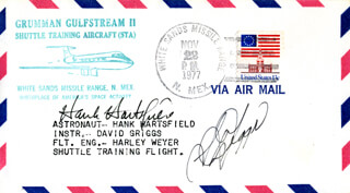 S. DAVID GRIGGS - COMMEMORATIVE ENVELOPE SIGNED CO-SIGNED BY: COLONEL HENRY HANK HARTSFIELD JR.