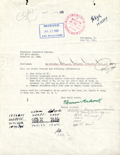 NORMAN ROCKWELL - TYPED LETTER SIGNED 07/10/1951