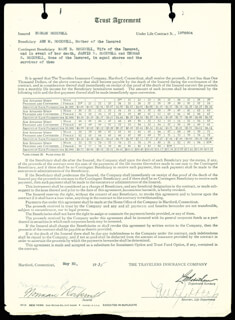 NORMAN ROCKWELL - DOCUMENT SIGNED 05/20/1935