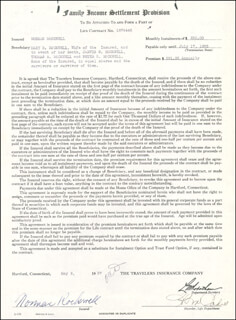 NORMAN ROCKWELL - DOCUMENT SIGNED 05/06/1937
