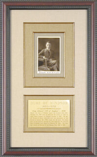 KING EDWARD VIII - PICTURE POST CARD SIGNED