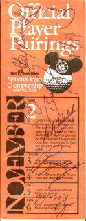 ARNOLD PALMER - PROGRAM SIGNED CO-SIGNED BY: GAY BREWER, FUZZY ZOELLER, BEN SMITH, VICTOR REGALADO, JIM COLBERT, BRUCE (CAITLYN JENNER) JENNER, G. G. WELCH