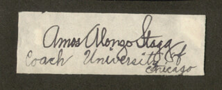 AMOS ALONZO STAGG - AUTOGRAPH