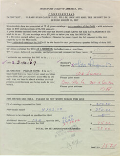 IDA LUPINO - DOCUMENT SIGNED 03/10/1967