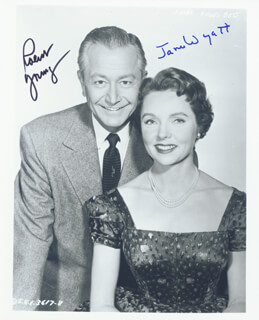 FATHER KNOWS BEST TV CAST - AUTOGRAPHED SIGNED PHOTOGRAPH CO-SIGNED BY: ROBERT YOUNG, JANE WYATT