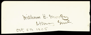 ASSOCIATE JUSTICE WILLIAM H. MOODY - AUTOGRAPH 10/05/1905