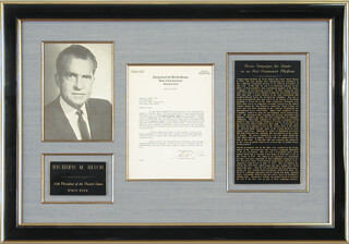 PRESIDENT RICHARD M. NIXON - TYPED LETTER SIGNED 03/08/1950