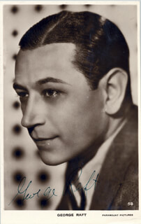 GEORGE RAFT - PICTURE POST CARD SIGNED