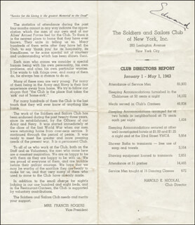 Autographs: KING EDWARD VIII - PAMPHLET SIGNED CIRCA 1943