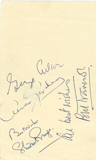 GEORGE D. CUKOR - AUTOGRAPH CO-SIGNED BY: STEWART GRANGER, BILL TRAVERS, AVA GARDNER
