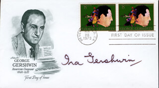 IRA GERSHWIN - FIRST DAY COVER SIGNED