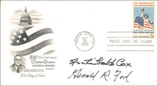 PRESIDENT GERALD R. FORD - FIRST DAY COVER SIGNED CO-SIGNED BY: ARCHIBALD COX
