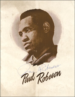 Autographs: PAUL L. ROBESON - PROGRAM SIGNED CIRCA 1949