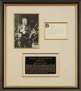 DUKE ELLINGTON - AUTOGRAPH