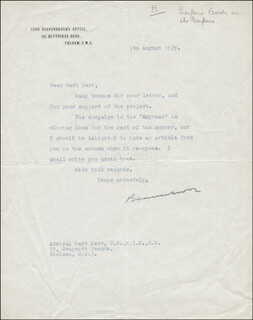 Autographs: MAX (1ST BARON BEAVERBROOK) AITKEN - TYPED LETTER SIGNED 08/07/1929