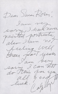 CAROLYN WYETH - AUTOGRAPH LETTER SIGNED