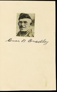 Autographs: GENERAL OMAR N. BRADLEY - PHOTOGRAPH MOUNT SIGNED