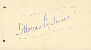 Autographs: MARIAN ANDERSON - SIGNATURE(S)