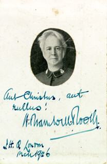 Autographs: GENERAL WILLIAM BRAMWELL BOOTH - AUTOGRAPH QUOTATION SIGNED 3/1926