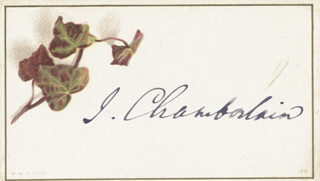 JOSEPH CHAMBERLAIN - PRINTED CARD SIGNED IN INK