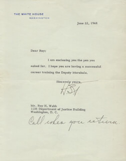 PRESIDENT HARRY S TRUMAN - TYPED LETTER SIGNED 06/22/1948