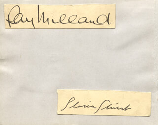 RAY MILLAND - AUTOGRAPH CO-SIGNED BY: GLORIA STUART