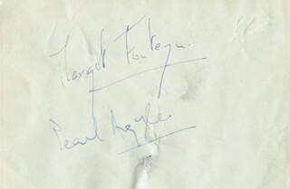 DAME MARGOT FONTEYN - AUTOGRAPH CO-SIGNED BY: PEARL ARGYLE