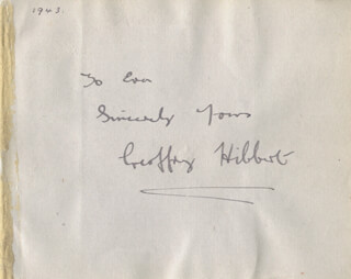GEOFFREY HIBBERT - AUTOGRAPH NOTE SIGNED CIRCA 1943 CO-SIGNED BY: CYRIL FLETCHER
