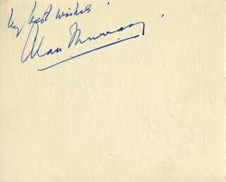Autographs: ALAN MURRAY - AUTOGRAPH SENTIMENT SIGNED CO-SIGNED BY: CYRIL SMITH