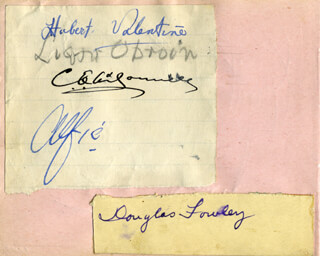 DOUGLAS FOWLEY - AUTOGRAPH CO-SIGNED BY: HUBERT VALENTINE FANSHAW