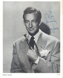 HARRY JAMES - AUTOGRAPHED INSCRIBED PHOTOGRAPH
