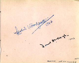 REGINALD PURDELL - AUTOGRAPH SENTIMENT SIGNED 1944 CO-SIGNED BY: LOUIE WOODGATE, DONALD McCOLLOUGH