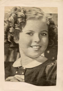 SHIRLEY TEMPLE - MAGAZINE PHOTOGRAPH SIGNED