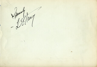 LEE TRACY - AUTOGRAPH SENTIMENT SIGNED
