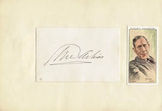 GEORGE ARLISS - AUTOGRAPH CO-SIGNED BY: VERA PEARCE