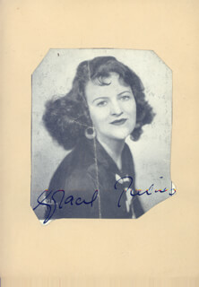 GRACIE FIELDS - AUTOGRAPHED SIGNED PHOTOGRAPH