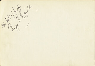 HUGO RIGNOLD - AUTOGRAPH SENTIMENT SIGNED CO-SIGNED BY: JASMINE BLIGH