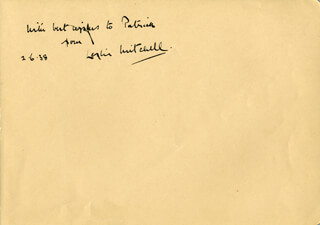 LESLIE MITCHELL - AUTOGRAPH NOTE SIGNED 06/02/1938