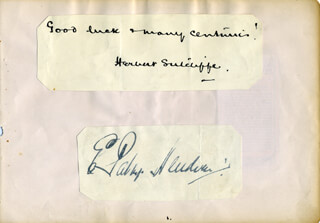 HERBERT SUTCLIFFE - AUTOGRAPH SENTIMENT SIGNED CO-SIGNED BY: DENIS C. S. COMPTON, PATSY HENDREN