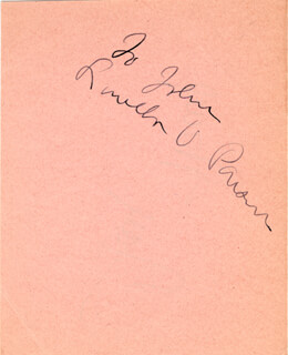 LOUELLA O. PARSONS - INSCRIBED SIGNATURE CO-SIGNED BY: FAY WRAY