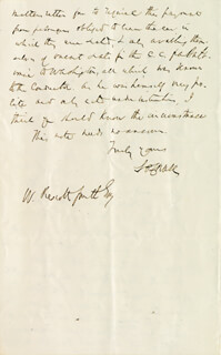 Autographs: CHIEF JUSTICE SALMON P. CHASE - AUTOGRAPH LETTER SIGNED 09/18/1869
