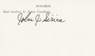 JUDGE JOHN J. SIRICA - TYPED NOTE SIGNED