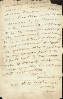 HORACE GREELEY - AUTOGRAPH LETTER SIGNED 04/05/1858