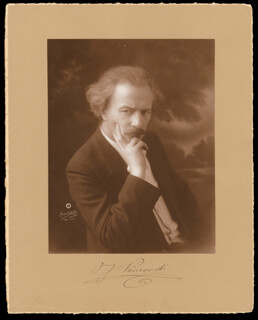 IGNACY JAN PADEREWSKI - PHOTOGRAPH MOUNT SIGNED